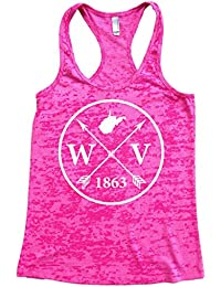 Women's West Virginia Arrow Racerback Burnout Tank Top