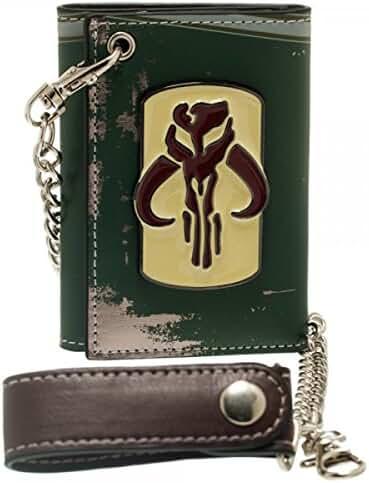 Star Wars Boba Fett Metal Badge Chain Wallet