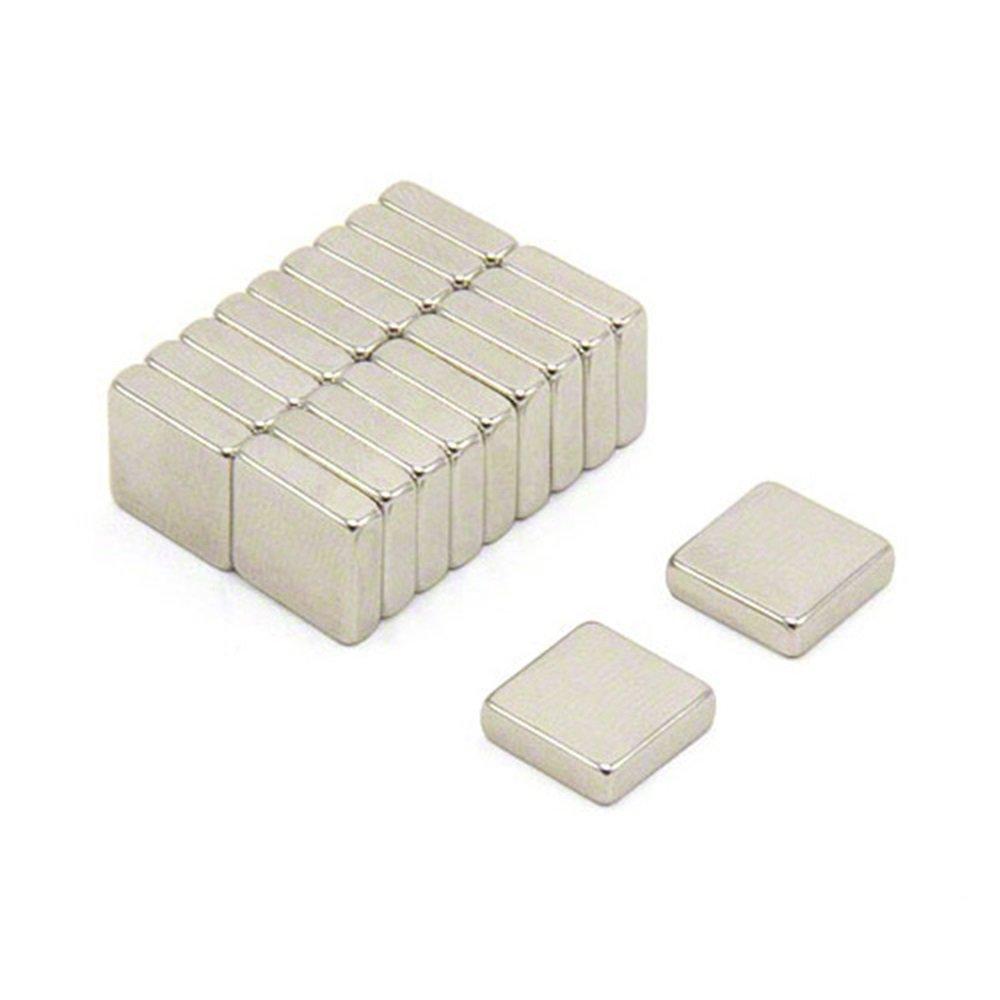 magnetastico® | 10pezzi Magnete Neodimio N52quadrato 10X 10X 4mm | Magnete frigo bacheca magnetica magnete permanente lavagna bianca magnetica calamita piazza parallelepipedo magnete magnetica