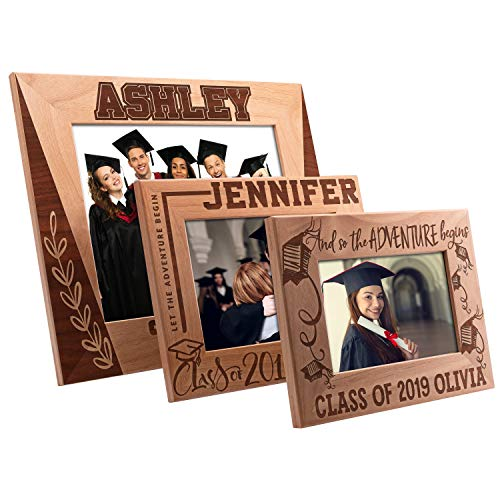 Personalized Graduation Gifts 2019, Picture Frame 4x6 5x7 8x10 - Class of 2019 - Let The Journey Begin, Graduation Gift for Her and Him