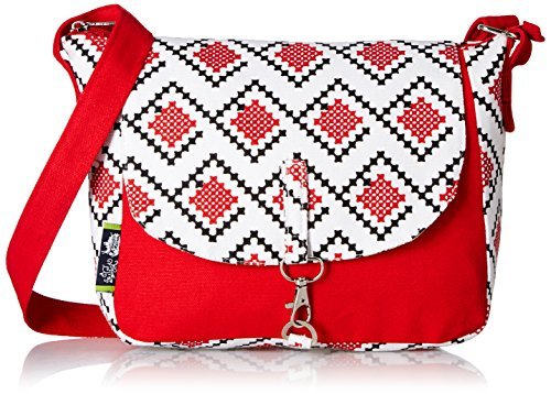 Kanvas Katha Women's Vogue Tree Sling Bag One Size Red