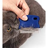 GNAWRISHING Flea Comb 4Pcs with High Strength Teeth Durable Pet Tear Stain Remover Combs, Pet Dog Cat Grooming Comb Set Effective Float Hair