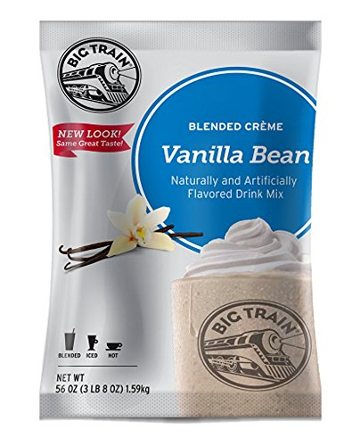 Big Train Blended Creme Mix Vanilla Bean 3.5 Lb (1 Count)  Powdered Instant Drink Mix, Serve Hot or Cold, Makes Blended Frappe ()