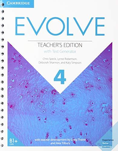 Evolve Level 4 Teacher's Edition with Test Generator (Test Generator)