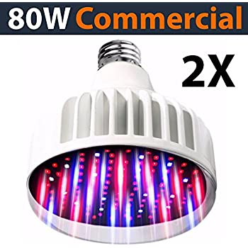 lighting labs pro grow series led grow bulb 2 pk 80 watt output