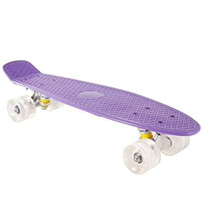 WWZL Purple Skateboard Completely Skateboarding Pattern, Skateboard Adult Teenage Skateboard /56CM : Sports & Outdoors