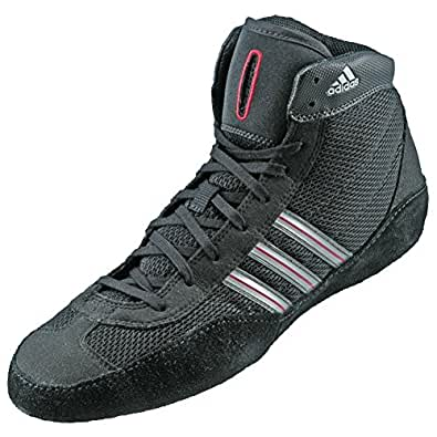Adidas Wrestling Combat Speed III Men's Wrestling Shoes, Black/Silver/Red, Size 5
