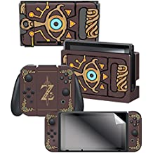 Controller Gear Nintendo Switch Skin & Screen Protector Set Officially Licensed by Nintendo - The Legend of Zelda: Breath of the Wild:Sheikah Slate