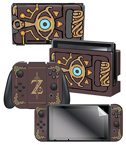 (Controller Gear Nintendo Switch Skin & Screen Protector Set Officially Licensed By Nintendo - The Legend of Zelda: Breath of the Wild: