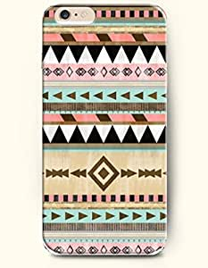 OOFIT Aztec Indian Chevron Zigzag Native American Pattern Hard Case for Apple iPhone 5 5S ( iPhone 5C Excluded ) ( Scatterd Aztec Geometric Pattern )