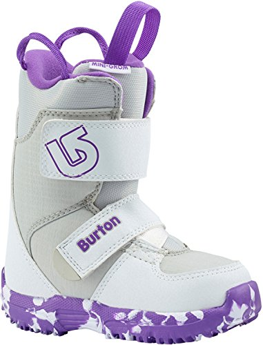 Burton Mini-Grom Snowboard Boots White/Purple Girls Sz - Mini Burton