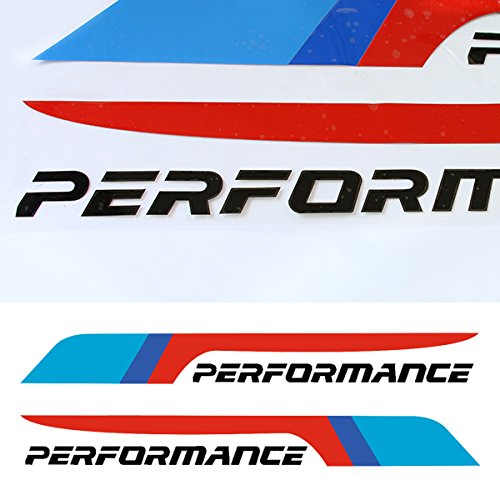 CHARMINGHORSE 2pcs M Performance 2018 Front Rear Windshield Windows Decal Stickers for BMW X1 X 3 X5 X 6 Z4 M3 M4 M5 (BLACK)