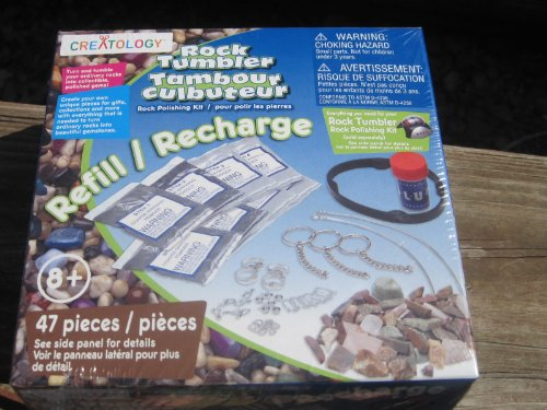 CREATOLOGY ROCK TUMBLER REFILL/RECHARGE Kit-47 Pieces-Ages 8+-