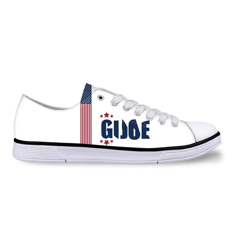 Canvas Low Top Sneaker Casual Skate Shoe Mens Womens American Flag Gi Joe