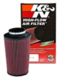 K&N RC-5166 Universal Clamp-On Air Filter: Round Tapered; 4.5 in (114 mm) Flange ID; 12 in (305 mm) Height; 8 in (203 mm) Base; 6.625 in (168 mm) Top