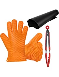Gain 3 in1 AIGUMI BBQ Tools Set Includes Grill Mat, Silicone Oven Mitt,Silicone Kitchen BBQ Tongs opportunity