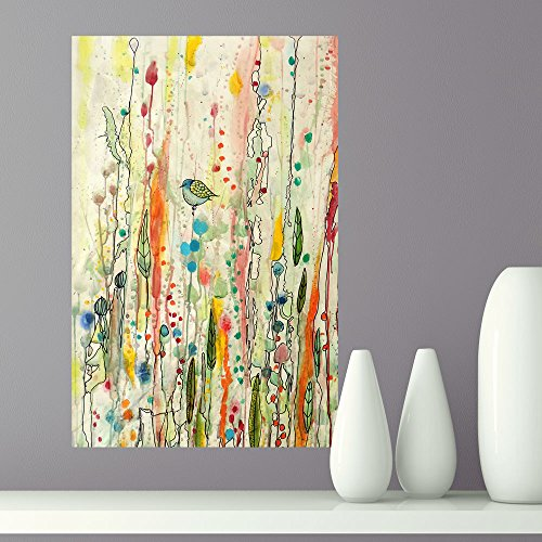 My Wonderful Walls Bird Art Watercolor Painting Decal Freedom by Sylvie Demers (L)