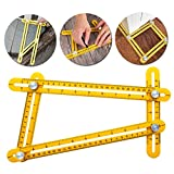 Angleizer Template Tool, Angle Measuring Ruler with Metal Knobs and Bolts for Carpenters, Handymen, Craftsmen, Tilers, Roofers, Builders, DIY