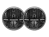 "Rigid Industries 55001 7"" Round Headlight with H13H4 Adaptor, Set of 2"