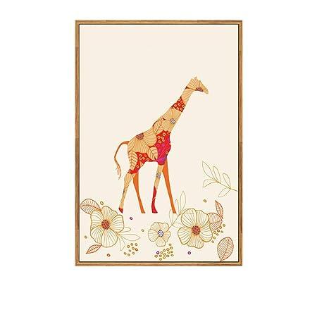 zxddzl Ciervo Animal Pintura Calidad Art Deco Vida Cartel ...
