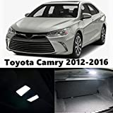 8X-Speed LED Interior Light For Toyota Camry 2012-2016 W5W Fastoon C5W Dome Map Replacement Bulbs White 12pcs Per Set