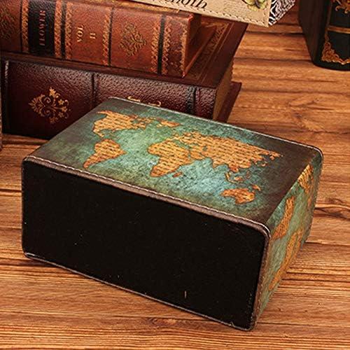 Pelle Scrivania portapenne Organizer da scrivania/—2 griglie portapenne in pelle/—15.5/×7/×12.2CM Portapenne da Scrivania,Porta oggetti