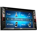 JVC Multimedia Receiver w/ WVGA Clear Resistive Touch Monitor, 6.2 (KW-V240BT)