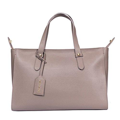 Borbonese Borsa Shopping Donna 923680J04N33 Pelle Grigio
