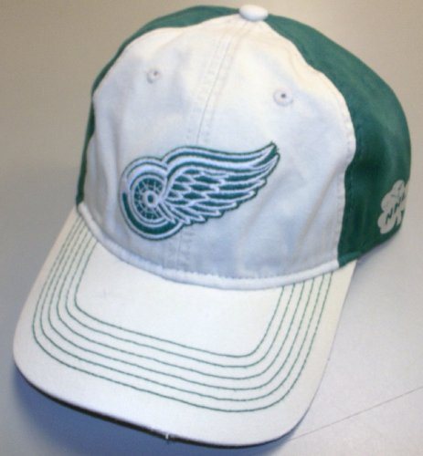 (Reebok Detroit Red Wings Putty/green Slouch Strap Back Hat -)