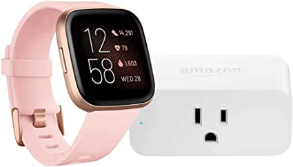 Amazon.com: Fitbit Versa 2 Smartwatch (Petal/Copper Rose ...