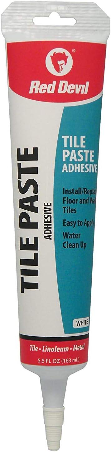 Red Devil 0497 Tile Paste Adhesive, 5.5 oz, White: Home Improvement