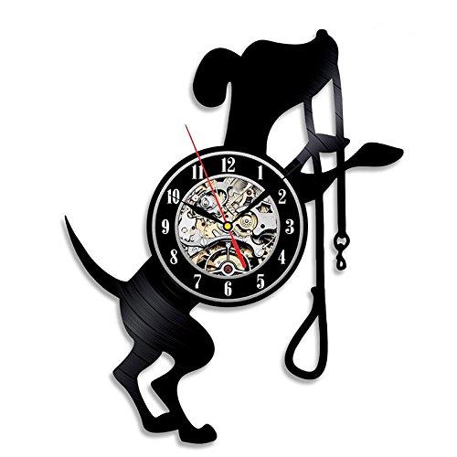Jedfild The lovely art wall clock cute dog