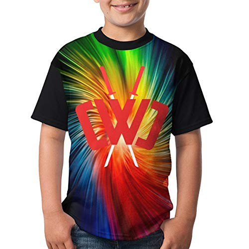 Chad Wild Clay Boys and Girls Print T-Shirts, Youth Fashion Tops M