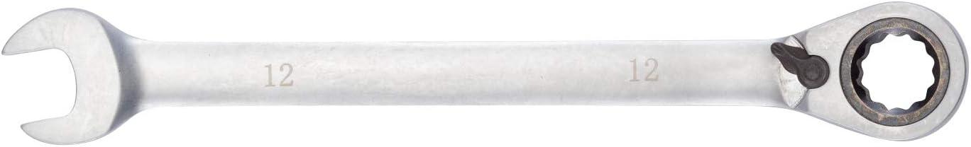 Cl/é mixte /à cliquet 17 mm par WIESEMANN 1893 cl/é en acier CV chrom/é /à t/ête fourche et t/ête cliquet avec anneau darr/êt 80997