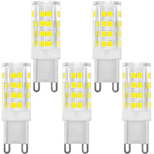 Dimmable 4000K 40W JCD Type 4W Cool White Oxford Light 4-Pack G9 LED Light Bulbs 400 Lumens LED Light Bulbs