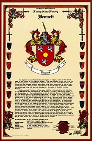 Bennett Coat of Arms/Crest and Family Name History, meaning & origin plus Genealogy/Family Tree Research aid to help find clues to ancestry, roots, namesakes and ancestors plus many other surnames at the Historical Research Center - Coat Center