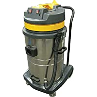 Perfect Products 18 Gallon Two-2 Stage Motor Wet/Dry Vac w/5-Pc Tool Kit, Stainless/Yellow