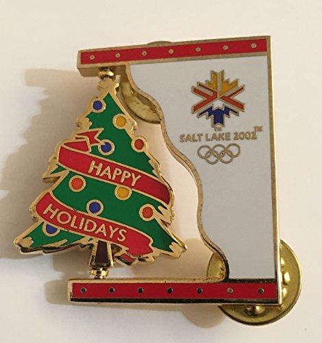 (Rare Christmas Tree Spinner Pin Salt Lake City Winter Olympics LE 148/2002)