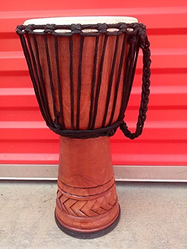 Extra Large 26 Tall Djembe Deep Carved Hand Drum ELEPHANTS Model #65m4