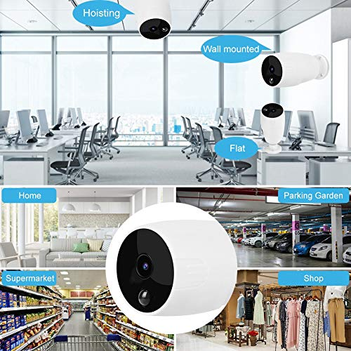 BTIHCEUOT Battery Powered Camera,1080P WiFi Wireless Motion Detection Waterproof Surveillance for Security