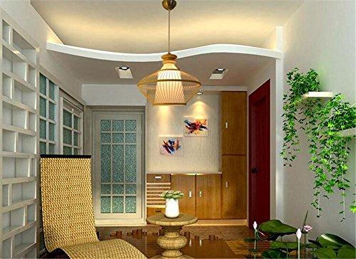 LUCKY CLOVER-AModern Ceiling Pendant Light Lampshade Large Black Lattice Wicker Rattan Classical Art Decor Gift Chandelier(black,white) , white - Light Chandelier Black Lacquer