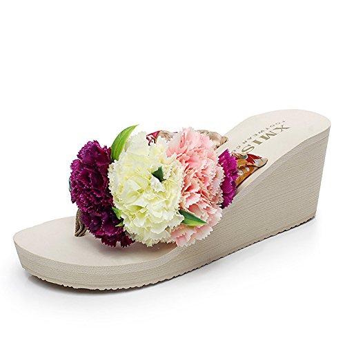 Estate Sandali Pantofole donna estiva Sandali pantofole alto per 18-40 anni Colore / formato facoltativo
