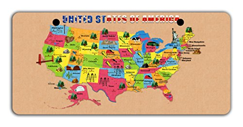 United Nation Costume Girls (BleuReign(TM) Detailed Map of United States Of America Bicycle Bike Moped Golf Cart 3