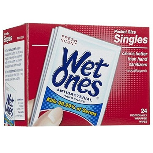 Single Supernova (Wet Ones Singles, 24 Count (Pack of 6))