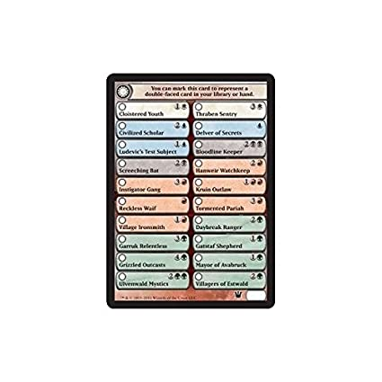 Magic: the Gathering - Double-Sided Card Checklist - Innistrad