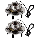 Scitoo Both (2) 515126 New Complete Front Wheel Hub Bearing Assembly fit 2009 2010 Dodge RAM 1500 5 Lugs w/ABS