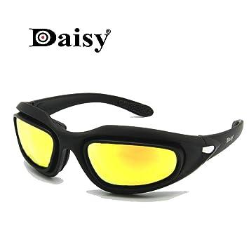 Daisy C5 ejército gafas polarizado Kit de lente 4, juego de guerra de militares gafas de sol de deportes al aire libre motociclismo bicicleta para ...