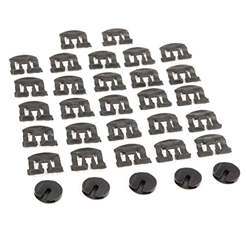 1979-1993 Mustang Coupe Front & Rear Windshield Moulding Clips 32pc ()