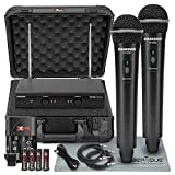 Samson Stage 200 - Dual-Channel Handheld VHF Wireless System (Channel D) W/ Deluxe Accessory Bundle and Hard Equipment Case + 2 X ¼' Cables + XLR Cable + FiberTique Cleaning Cloth
