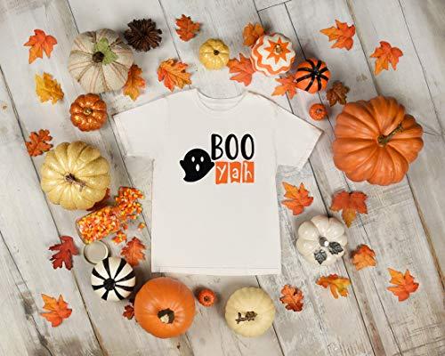 Boo Yah Kids Youth Toddler Shirt Halloween Tshirt Ghost Pumpkin Fun Fall Tee for Boy or Girl Pumpkin Patch Family Photo Shoot Gift Idea
